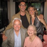 Mom and Dad, Matthew and me in Greenwich, 2007