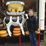 Noah in Front of Cheese Museum