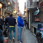 Christoph Leading the Way into The Red Light District