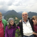 Noah, Kaya, Alex and Henry at the Neuschwanstein Castle