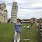 Karen at Pisa Tower