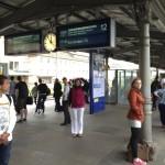 Karen at Train Station to Amsterdam