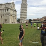 Kaya at The Tower of Pisa